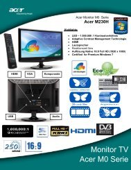Acer M0 Serie Monitor TV - Interspar