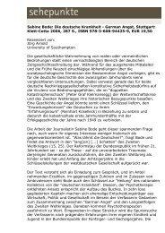 Sabine Bode: Die deutsche Krankheit - German Angst ... - Sehepunkte