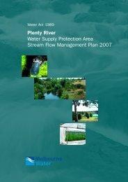 Plenty River Stream Flow Management Plan - Melbourne Water