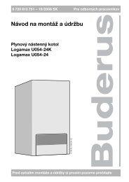 U052 / U054 návod na montáž a údržbu - kotol-kotly.sk