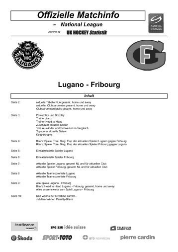 Offizielle Matchinfo - Swiss Ice Hockey
