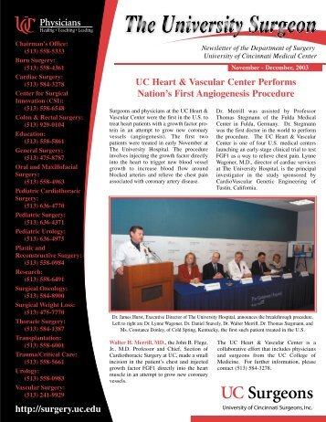 UC Heart & Vascular Center Performs Nation's First Angiogenesis ...