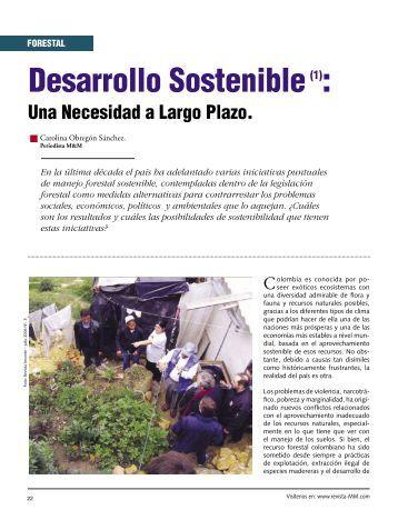 Forestal Desarrollo Sostenible.. - Revista El Mueble y La Madera