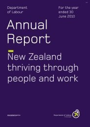 Department of Labour Annual Report for the year ended June 2010