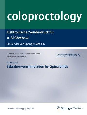 Sakralnervenstimulation bei Spina bifida - im Krankenhaus ...