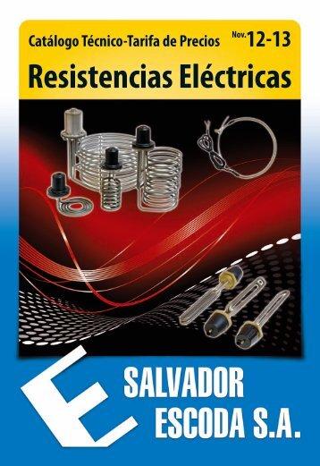 Catálogo-Tarifa de Resistencias Eléctricas - Salvador Escoda SA