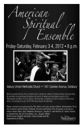 American Spiritual Ensemble - Salisbury University