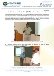 Press Release: Soft launch of IP Facilitation Center ... - Venture Center