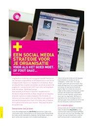 Een social media strategie voor je organisatie (pdf - Steunpunt Jeugd