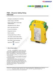 Phoenix Safety Relay PSR-ESD - Onlinecomponents.com