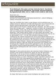 Ernst Baltrusch: Die Juden und das römische Reich ... - Sehepunkte