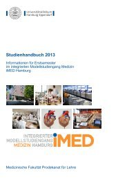Studienhandbuch 2013 - Universitätsklinikum Hamburg-Eppendorf