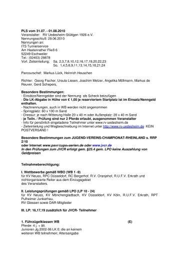 Ausschreibung - RV Uedesheim