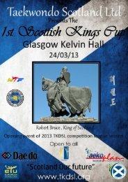 1st scottish kings cup - Taekwondo Scotland Limited