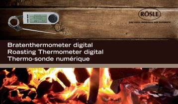 Bratenthermometer digital Roasting Thermometer digital ... - Rösle