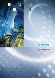 Årsredovisning Koncern 2003 - Siemens
