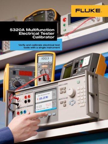 5320A Multifunction Electrical Tester Calibrator - Adler Instrumentos