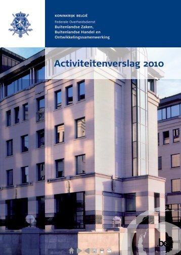 2010 (PDF, 4.71 MB) - Buitenlandse Zaken - Belgium