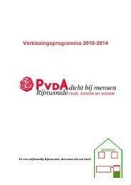 Verkiezingsprogramma+2010-2014