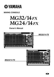 MIXING CONSOLE Owner's Manual MG32/14 FX MG24/14 FX