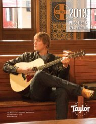 2013 Price List - Taylor Guitars