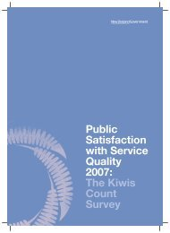 Public Satisfaction with Service Quality 2007: The Kiwis Count Survey