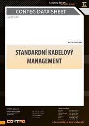 conteg data sheet standardní kabelový management
