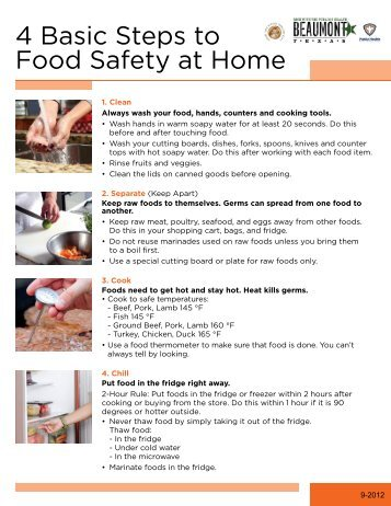 Food Safety at Home - City of Beaumont