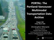 PORTAL: The Portland-Vancouver Multimodal Transportation Archive