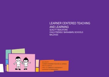 LEARNER CENTERED TEACHING AND LEARNING - Unicef