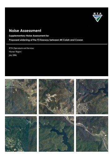 F3 Freeway Noise Assessment Supplementary Noise ... - RTA