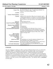 Staff Report - City of Oakland