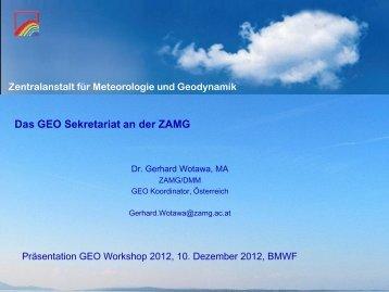 Präsentationen - ZAMG