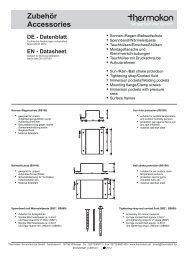 Zubehör Accessories - Thermokon Sensortechnik GmbH