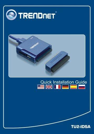 TU2-IDSA Quick Installation Guide - TRENDnet