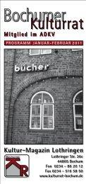 Januar, Februar 2011 - Bochumer Kulturrat eV