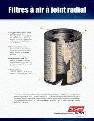 Form 332-F Fiche produit – Filtre à joint radial - Baldwin Filters