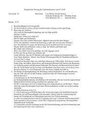 Protokoll der Sitzung des Fachschaftenrats vom 07.12.09 Anwesend ...