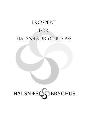 Prospekt for Halsnæs Bryghus A/S