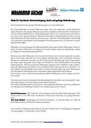 Modul 6 - Initiative zur sozialen Rehabilitation eV