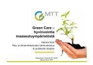 Green Care – hyvinvointia maaseutuympäristöstä - Rauma