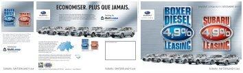 ECONOMISER. PLUS QUE JAMAIS. - Subaru