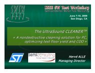 The UltraSound CLEANER - Semiconductor Wafer Test Workshop