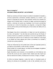 Marco investigativo: DE DONDE VIENEN LOS MITOS ... - Tu patrocinio