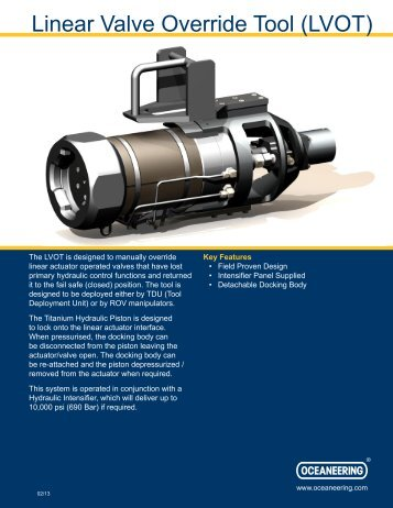 Linear Valve Override Tool (LVOT) - Oceaneering