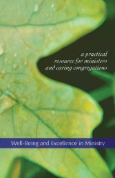 Well-Being and Excellence in Ministry - Cooperative Baptist ...