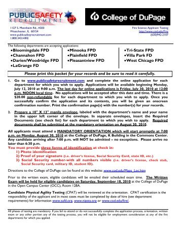 MINIMUM REQUIREMENTS and CHECK LIST - Fire Jobs | Public ...