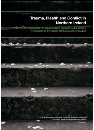 Trauma, Health and Conflict in Northern Ireland - Initiative for ...