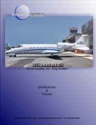 1997 L EARJET 60 - Pacific Point Aviation