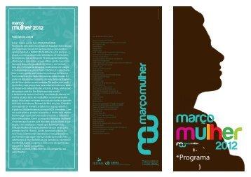 Março Mulher 2012 - Programa - Câmara Municipal de Setúbal